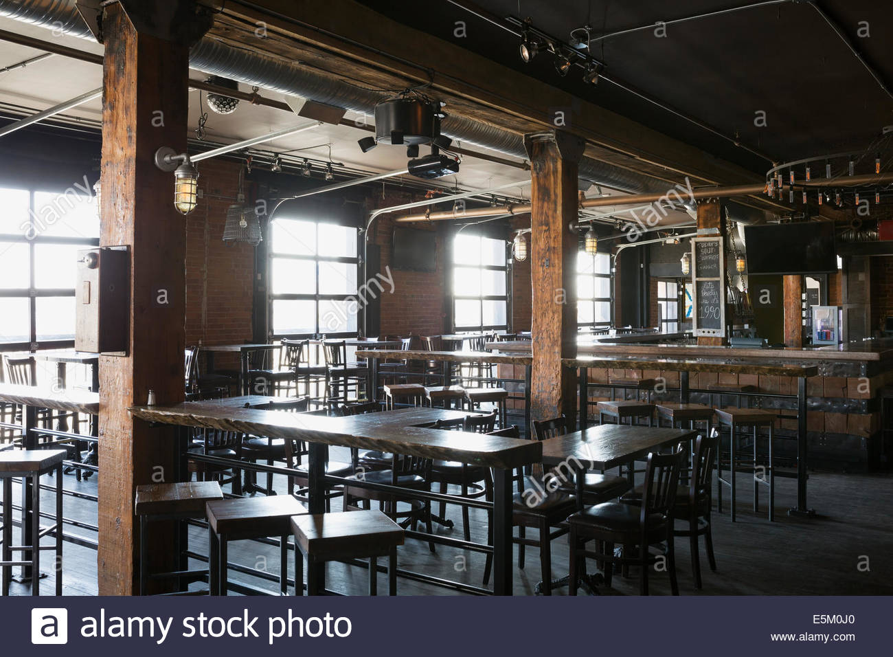 Empty pub - Stock Image
