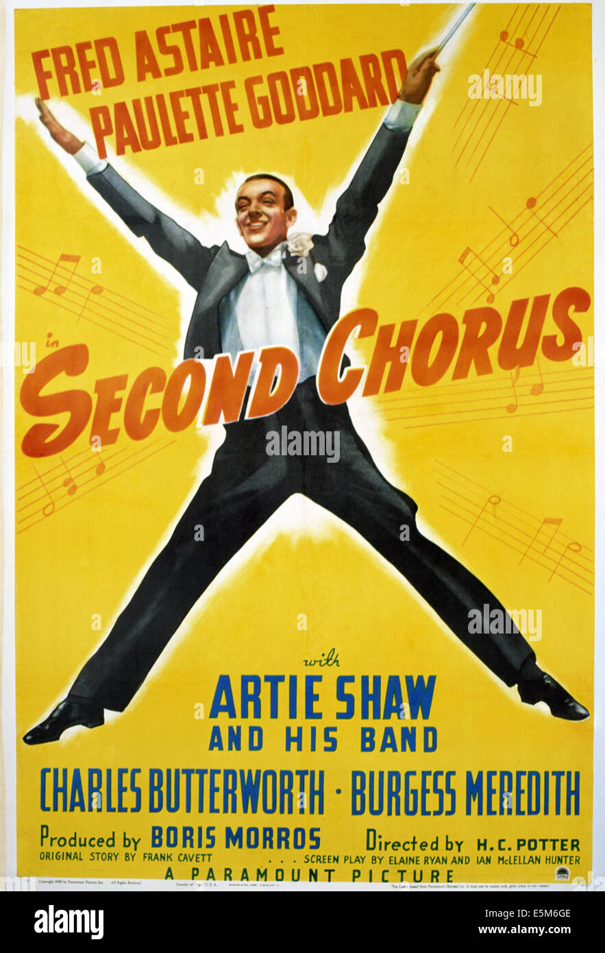 SECOND CHORUS, Fred Astaire, 1940 - Stock Image