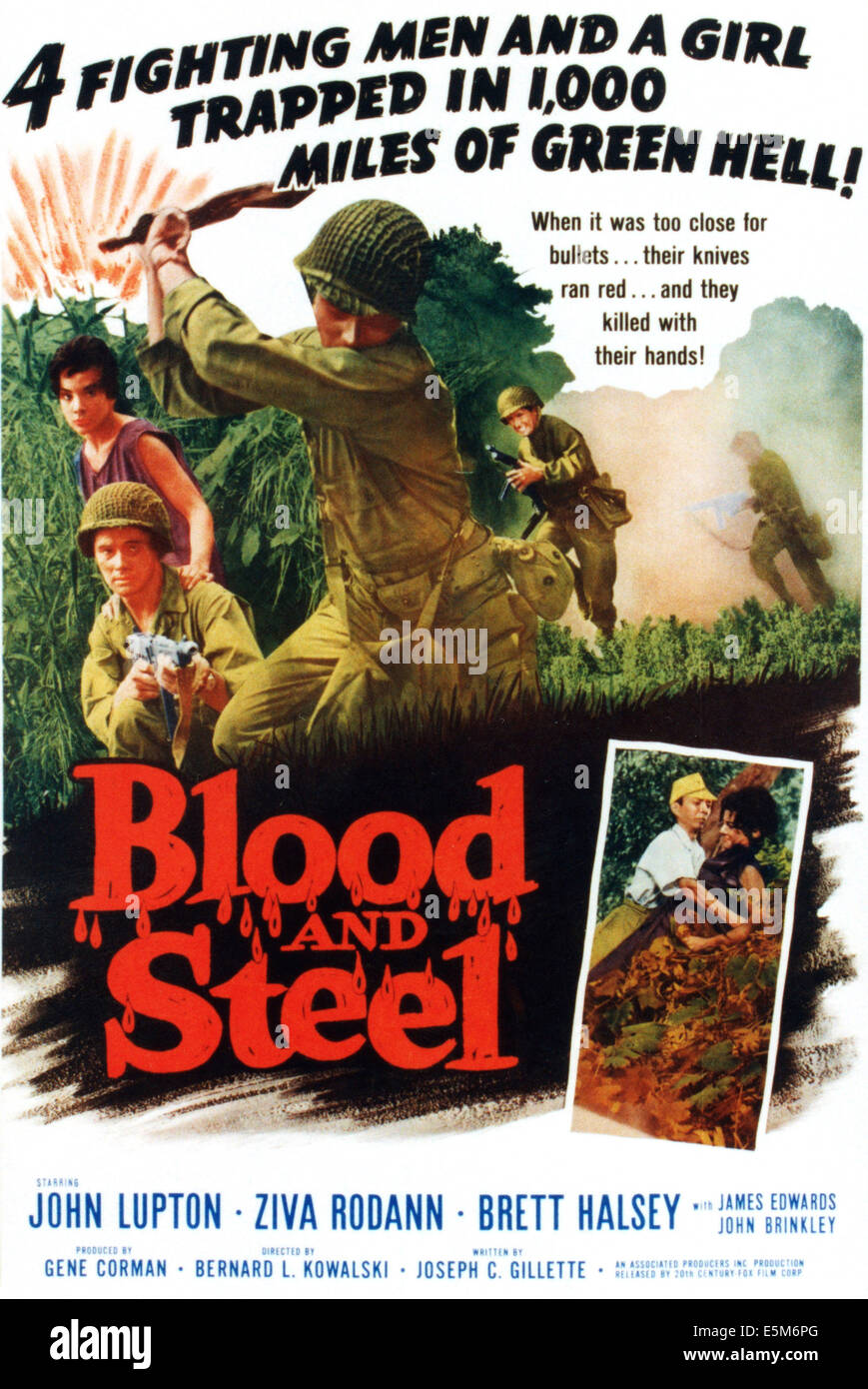 BLOOD AND STEEL, 1959 - Stock Image