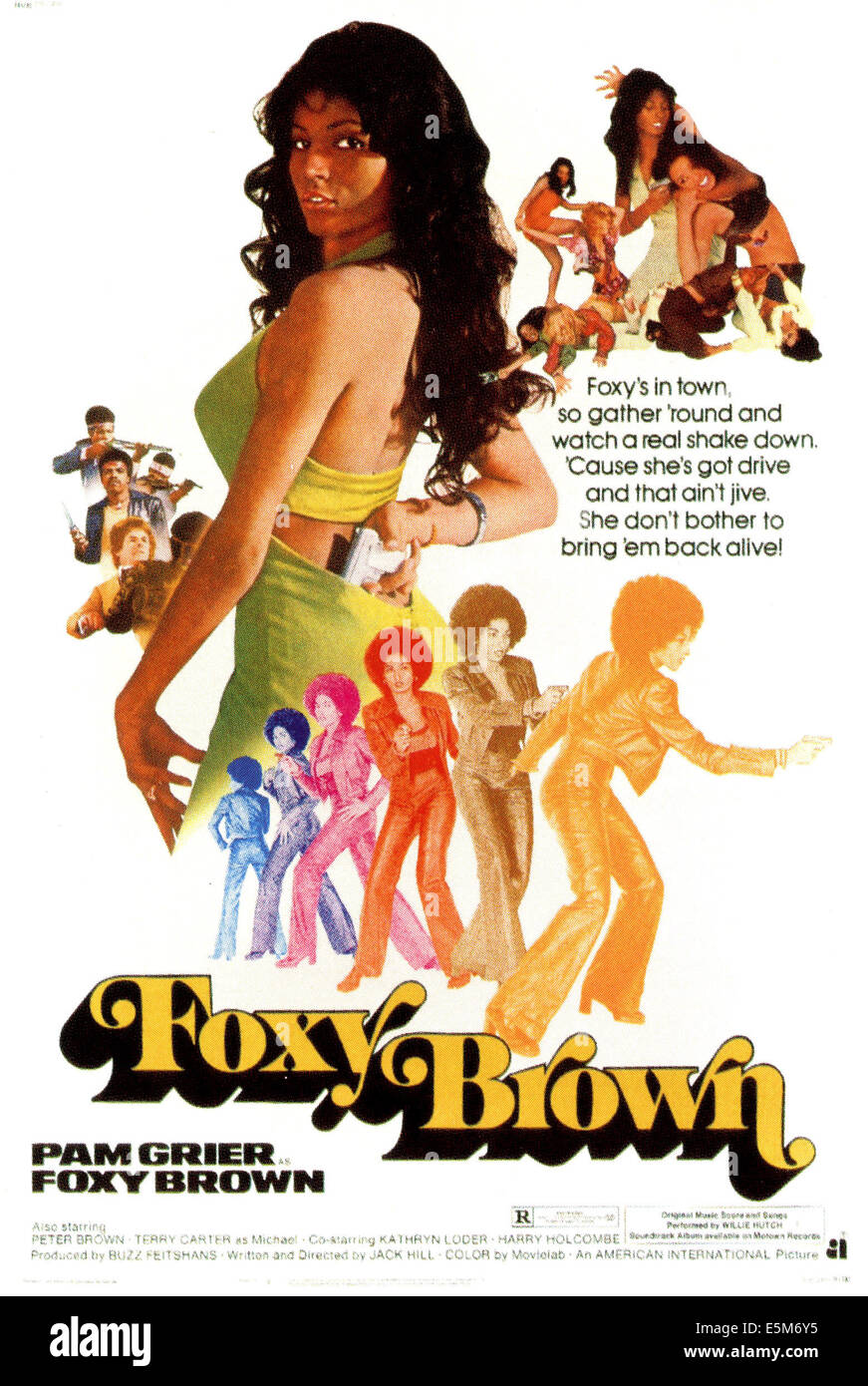 FOXY BROWN, Pam Grier, 1974. - Stock Image