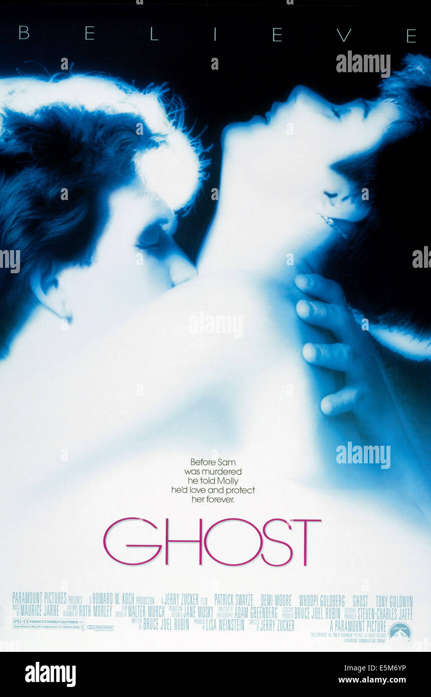 GHOST, poster 1990 - Stock Image
