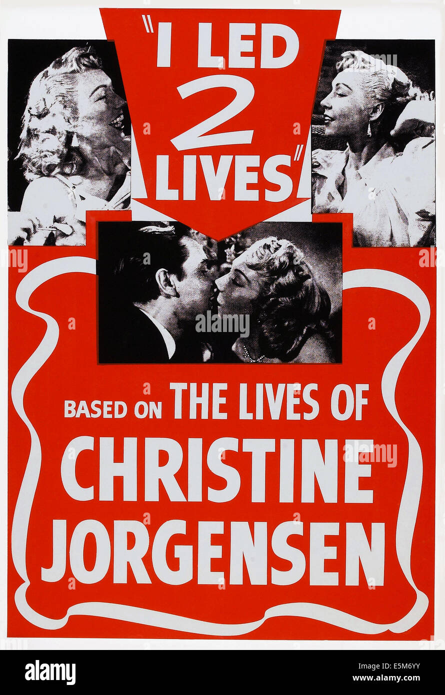GLEN OR GLENDA, (aka I LED 2 LIVES), US poster art, center, from left: Ed Wood, Dolores Fuller, 1953 - Stock Image