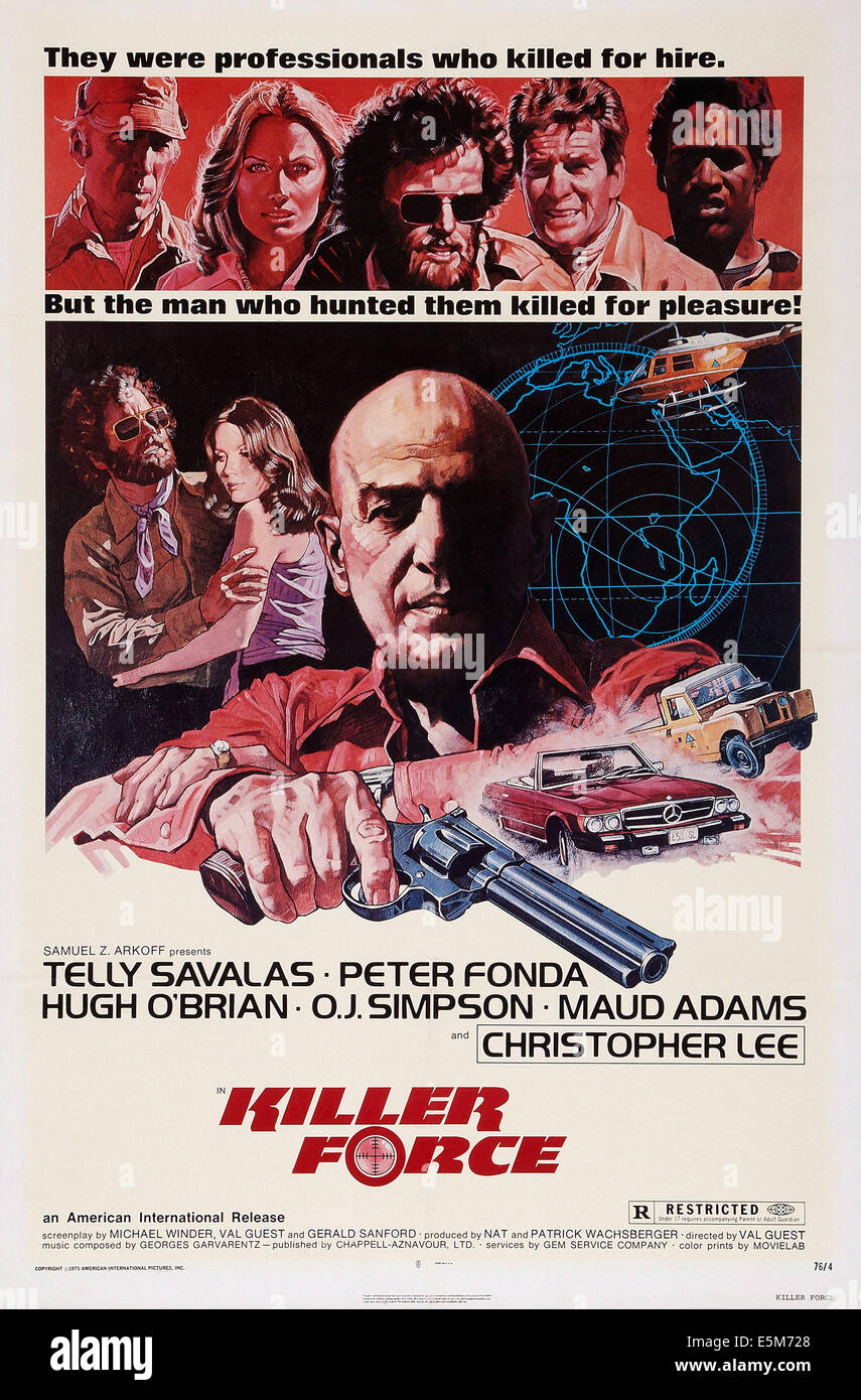 KILLER FORCE, US poster art, Telly Savalas, 1976 - Stock Image