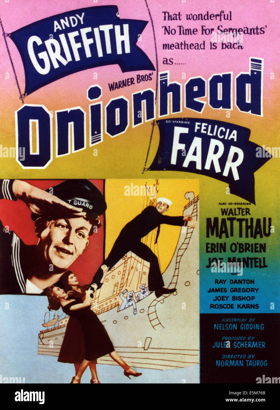 ONIONHEAD, Andy Griffith (top twice), 1958 - Stock Image