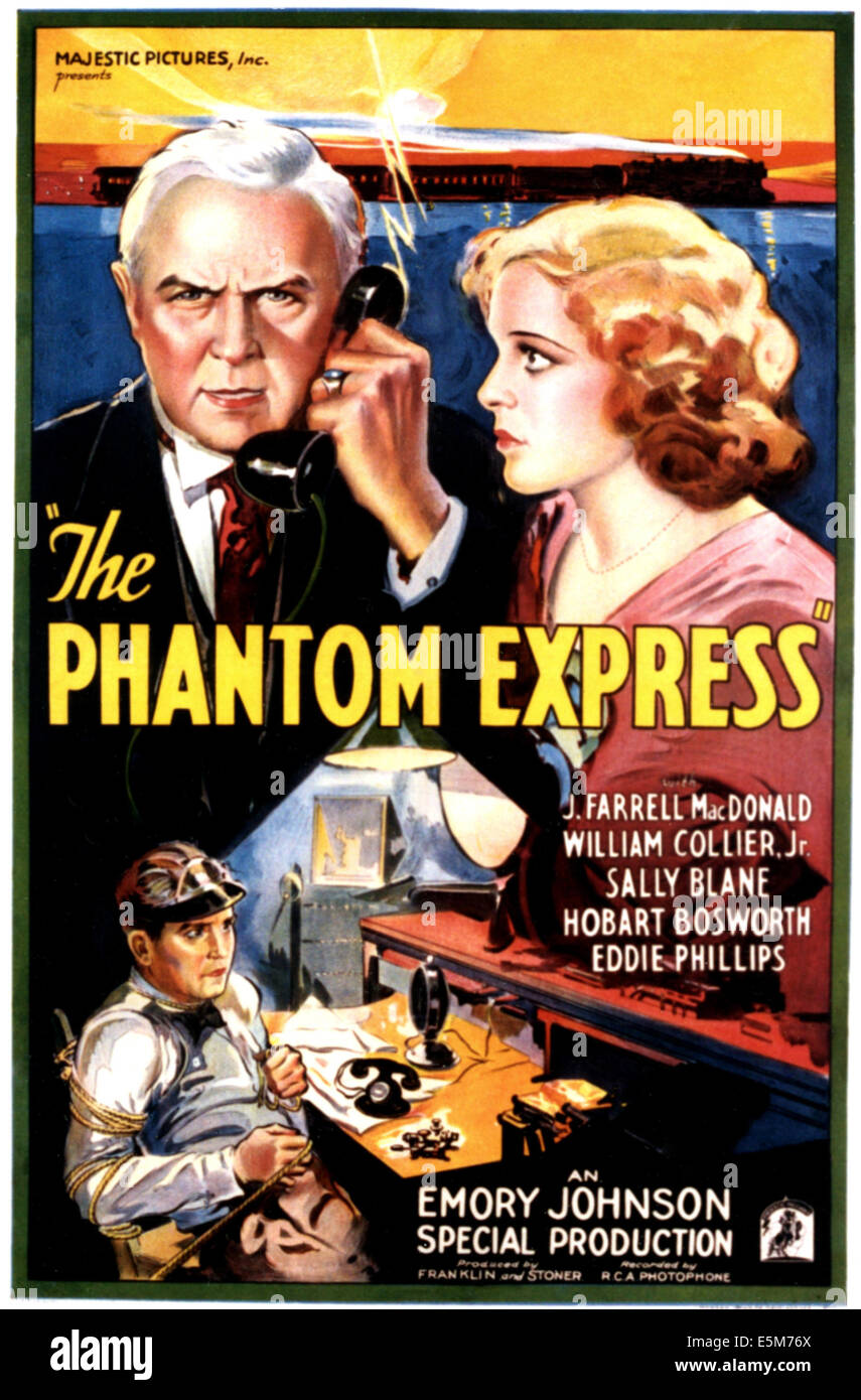 PHANTOM EXPRESS, Hobart Bosworth, Sally Blane, 1932 - Stock Image
