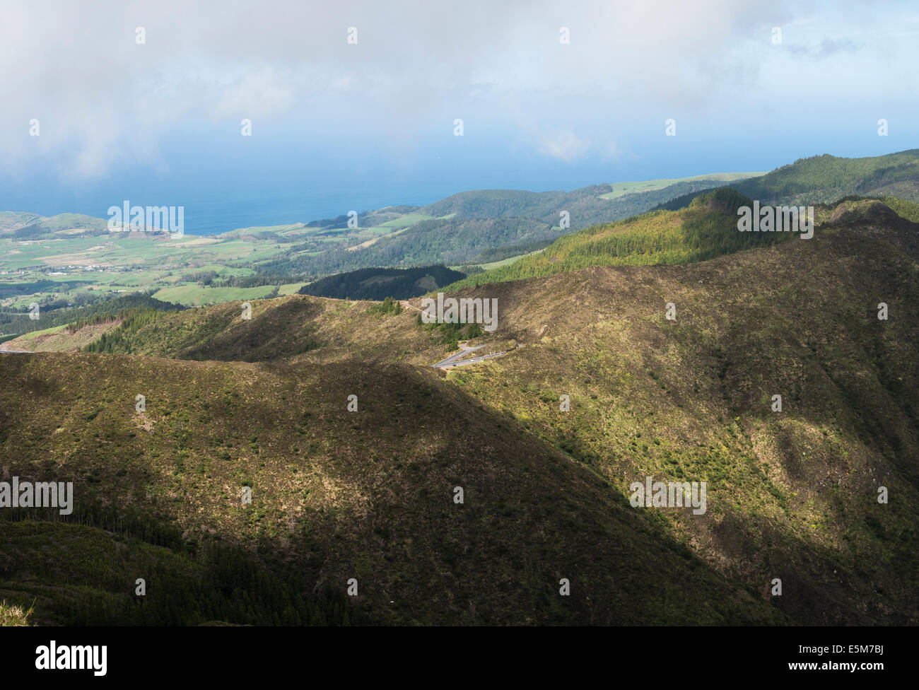 mountains, central S.Miguel Island,the Azores - Stock Image