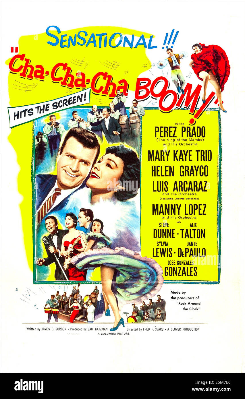 CHA-CHA-CHA BOOM!, US poster art, from left: Stephen Dunne, Alix Talton, 1956 - Stock Image