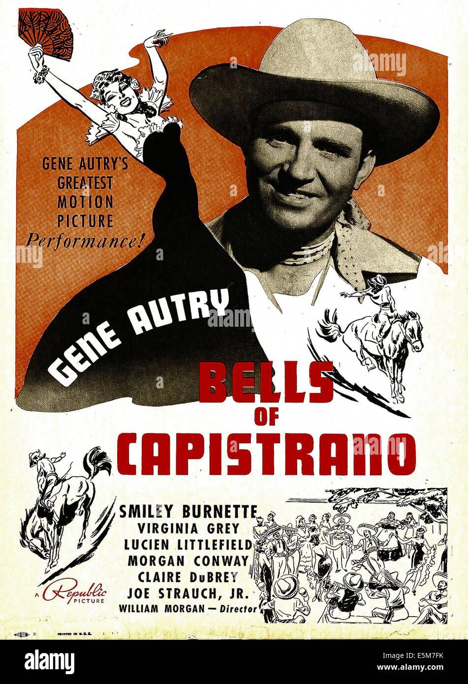 BELLS OF CAPISTRANO Gene Autry On Window Card 1942