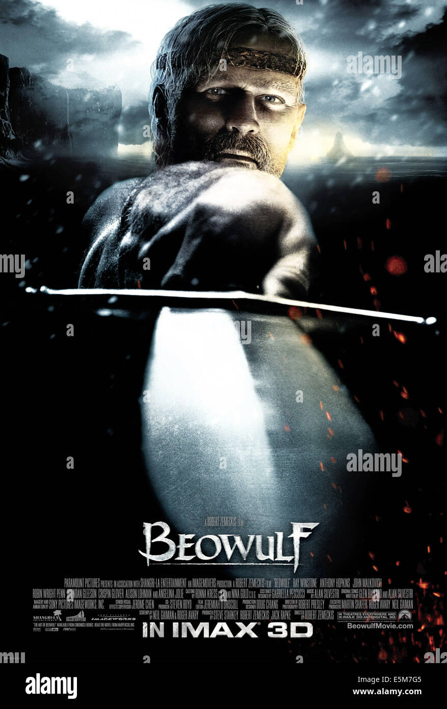 BEOWULF, Ray Winstone, 2007. ©Paramount/Courtesy Everett Collection - Stock Image