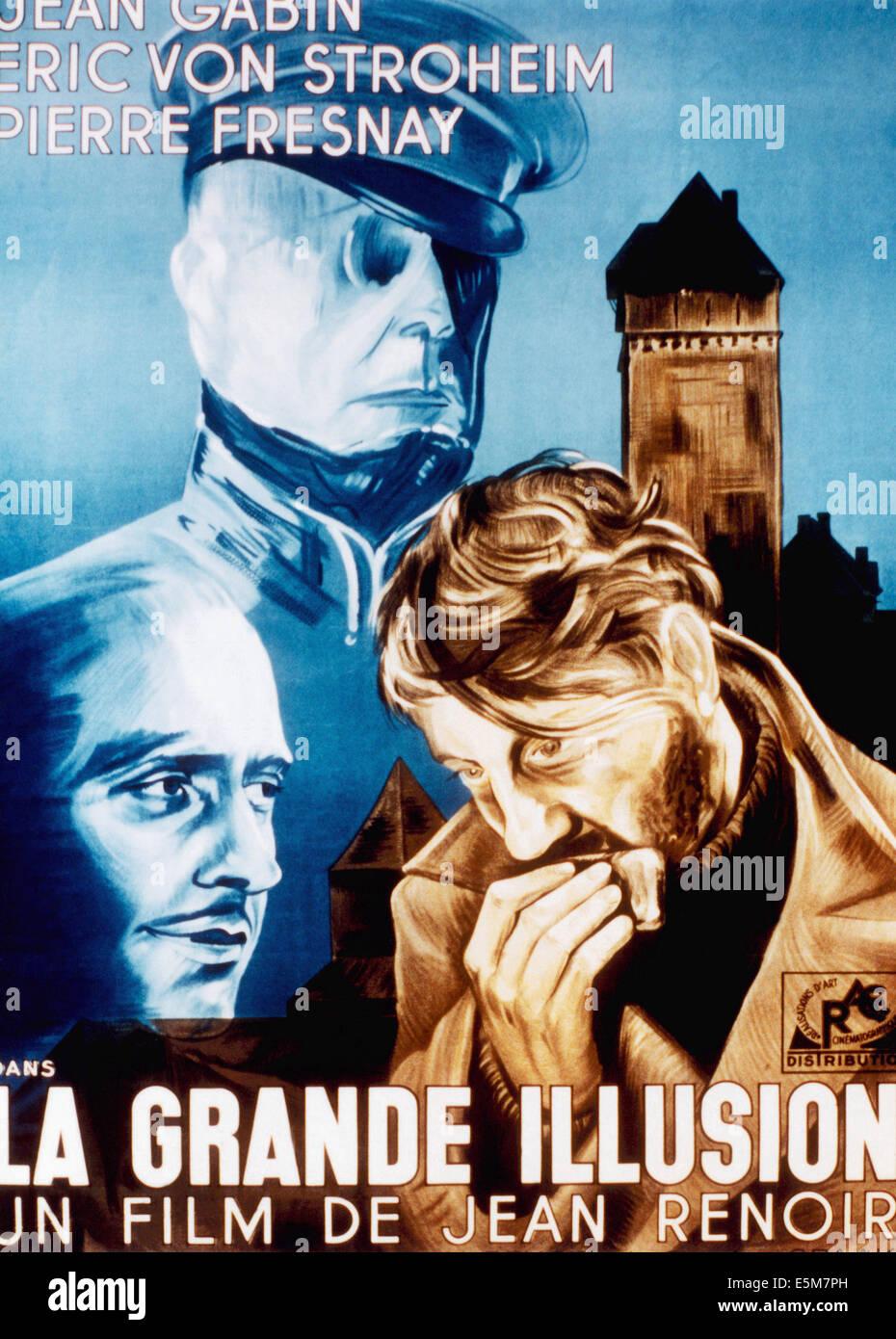 La grande illusion Jean Gabin vintage movie poster 14