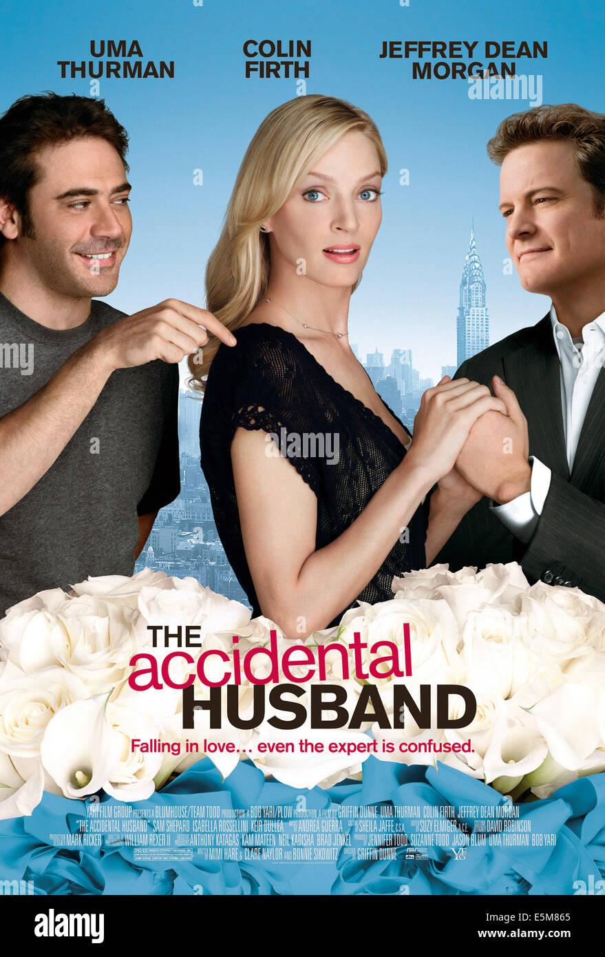 THE ACCIDENTAL HUSBAND, Jeffrey Dean Morgan, Uma Thurman, Colin Firth, 2008. ©Yari Film Group Releasing/courtesy - Stock Image