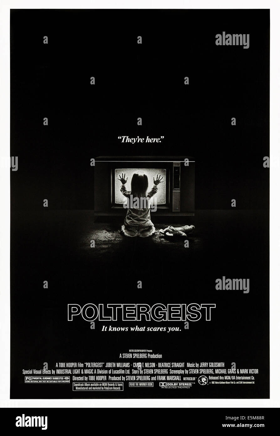 POLTERGEIST, poster art, 1982. - Stock Image