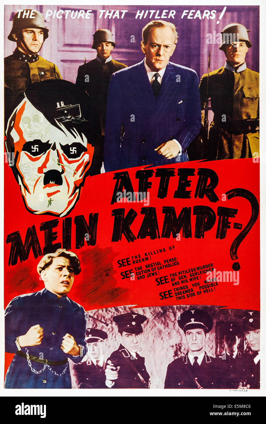 AFTER MEIN KAMPF?, US poster, 1940 - Stock Image