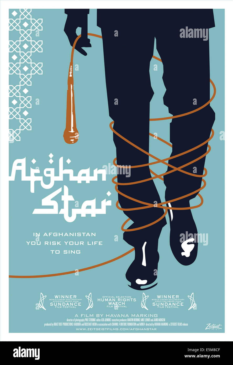 AFGHAN STAR, US poster art, 2009, ©Zeitgeist Films/courtesy Everett Collection - Stock Image
