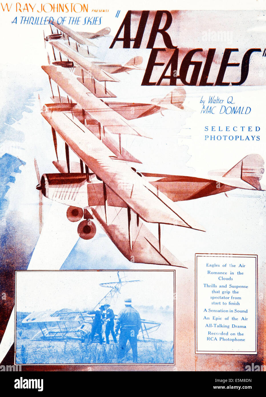 AIR EAGLES, poster art, 1931. - Stock Image