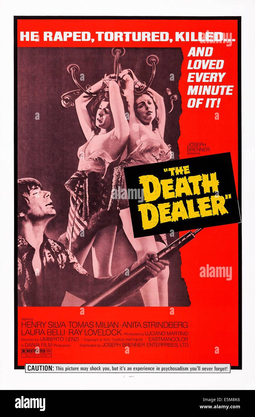 ALMOST HUMAN, (aka THE DEATH DEALER, aka MILANO ODIA: LA POLIZIA NON PUO), US poster, Tomas Milian (left), 1974 - Stock Image