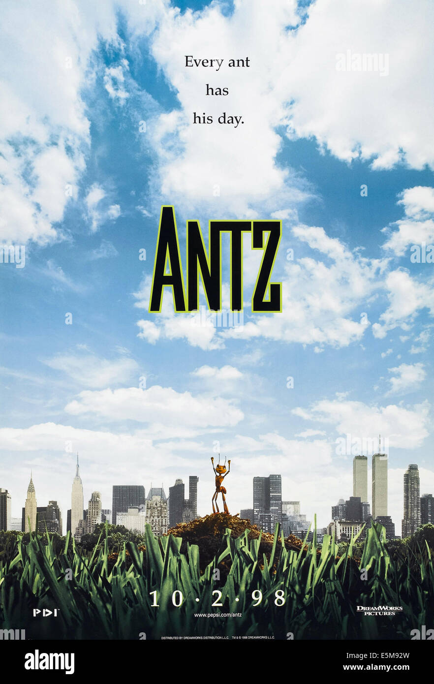 ANTZ, US advance poster art, 1998. ©Dreamworks/courtesy Everett Collection - Stock Image
