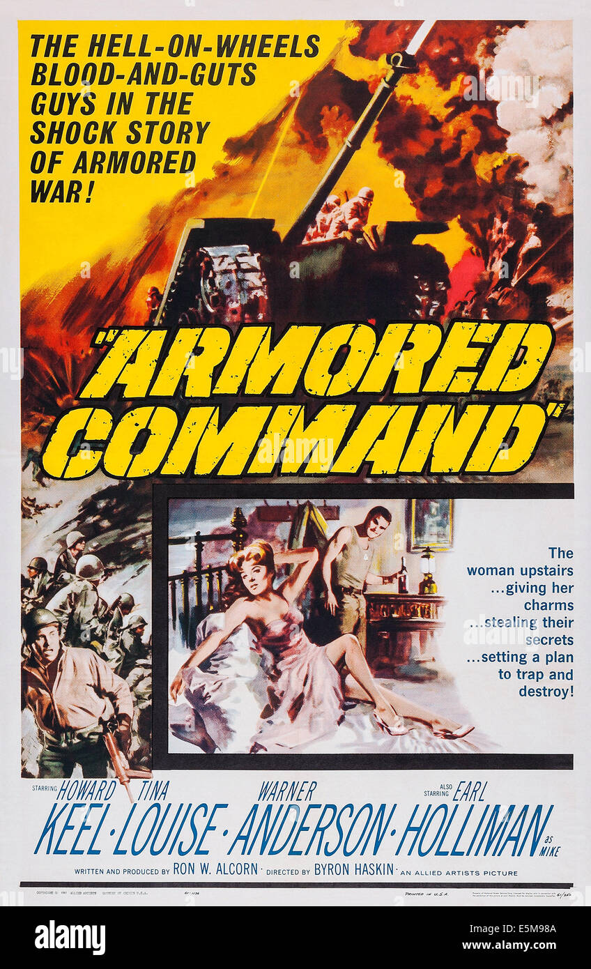 ARMORED COMMAND, poster art, 1961 - Stock Image