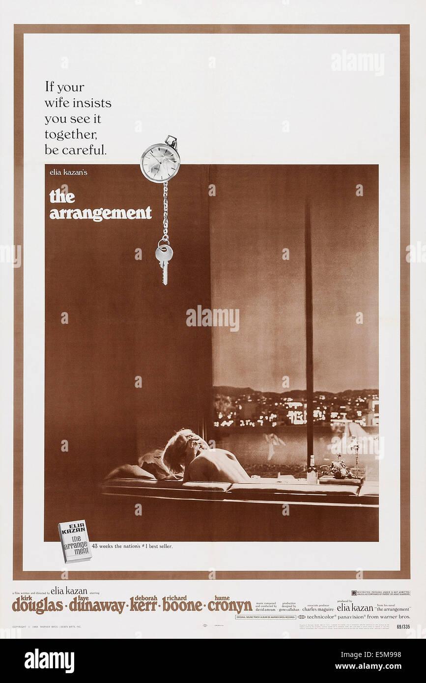 THE ARRANGEMENT, poster art, 1969 - Stock Image