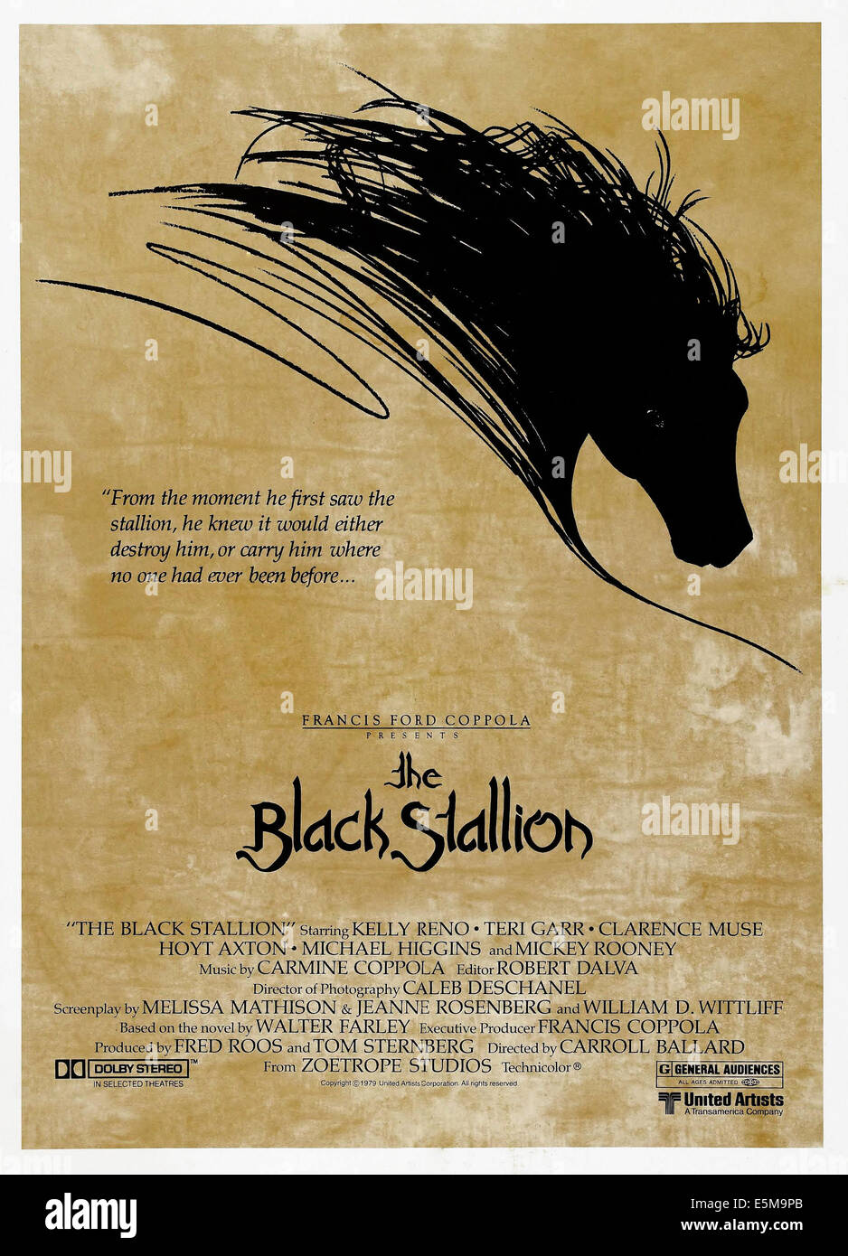 THE BLACK STALLION, US poster art, 1979. ©United Artists/courtesy Everett Collection - Stock Image