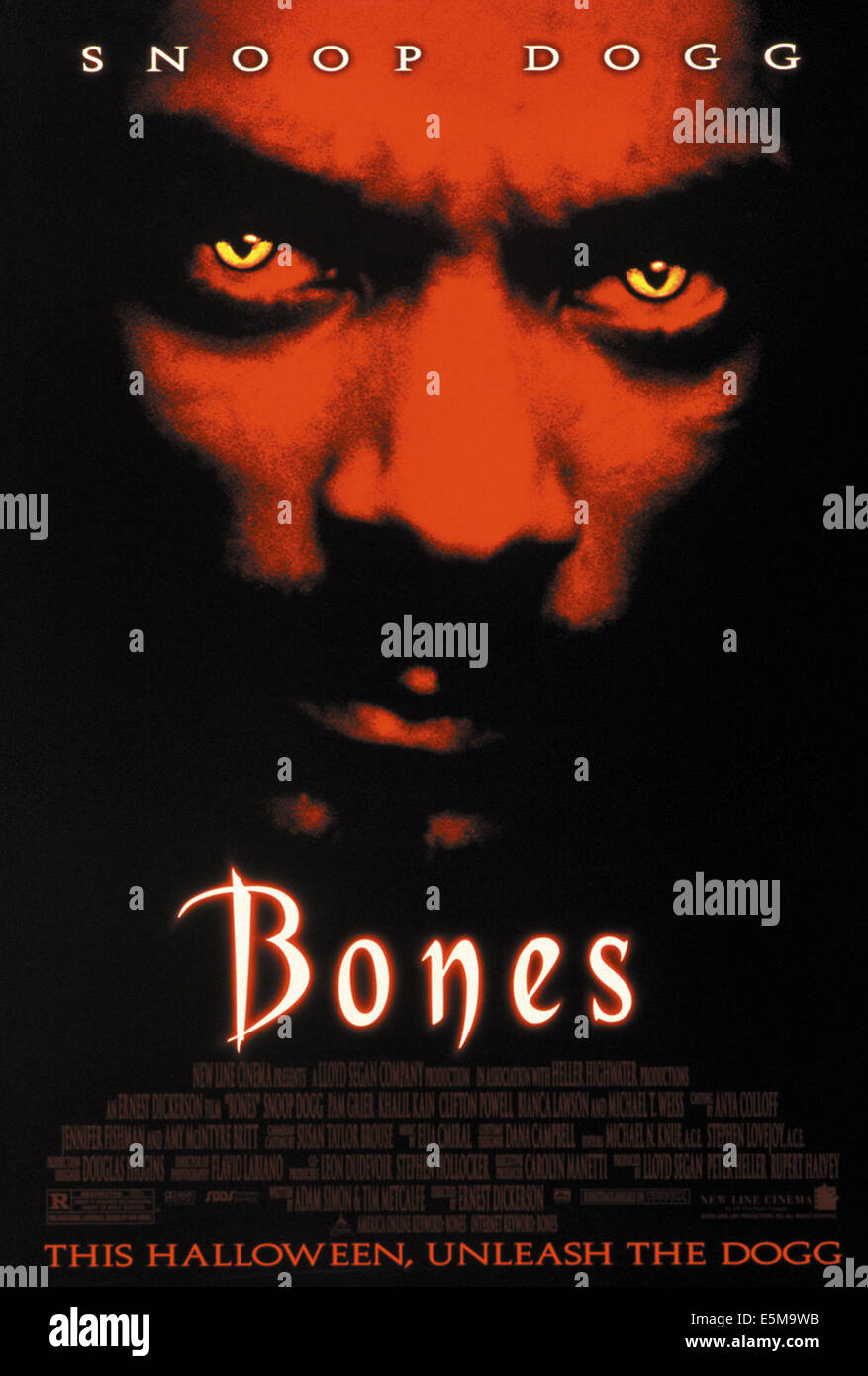 BONES, Snoop Dogg, poster art, 2001, ©New Line Cinema/courtesy Everett Collection - Stock Image