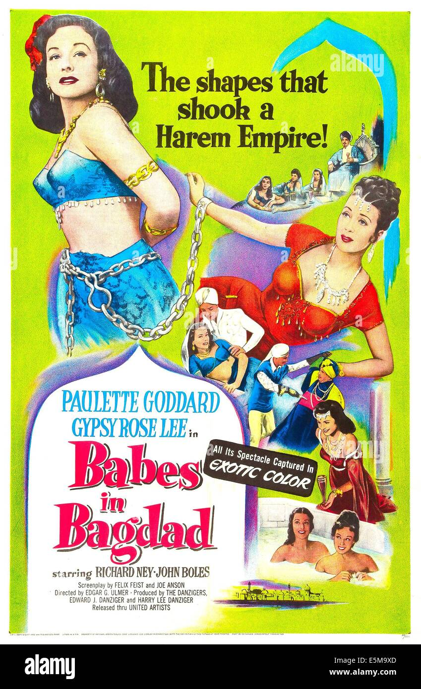 BABES IN BAGDAD, US poster, from left: Paulette Goddard, Gypsy Rose Stock  Photo - Alamy