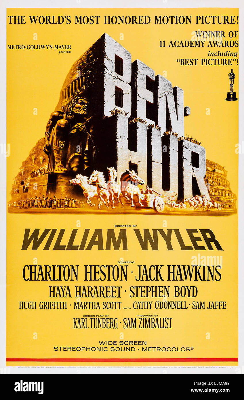 BEN-HUR, poster art, 1959. - Stock Image