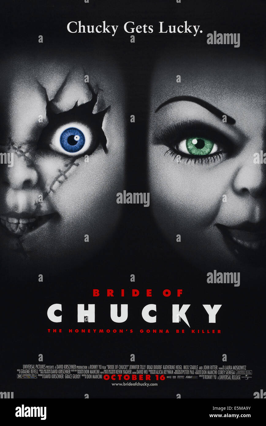 BRIDE OF CHUCKY, US advance poster art, 1998. ©MCA Universal/courtesy Everett Collection - Stock Image