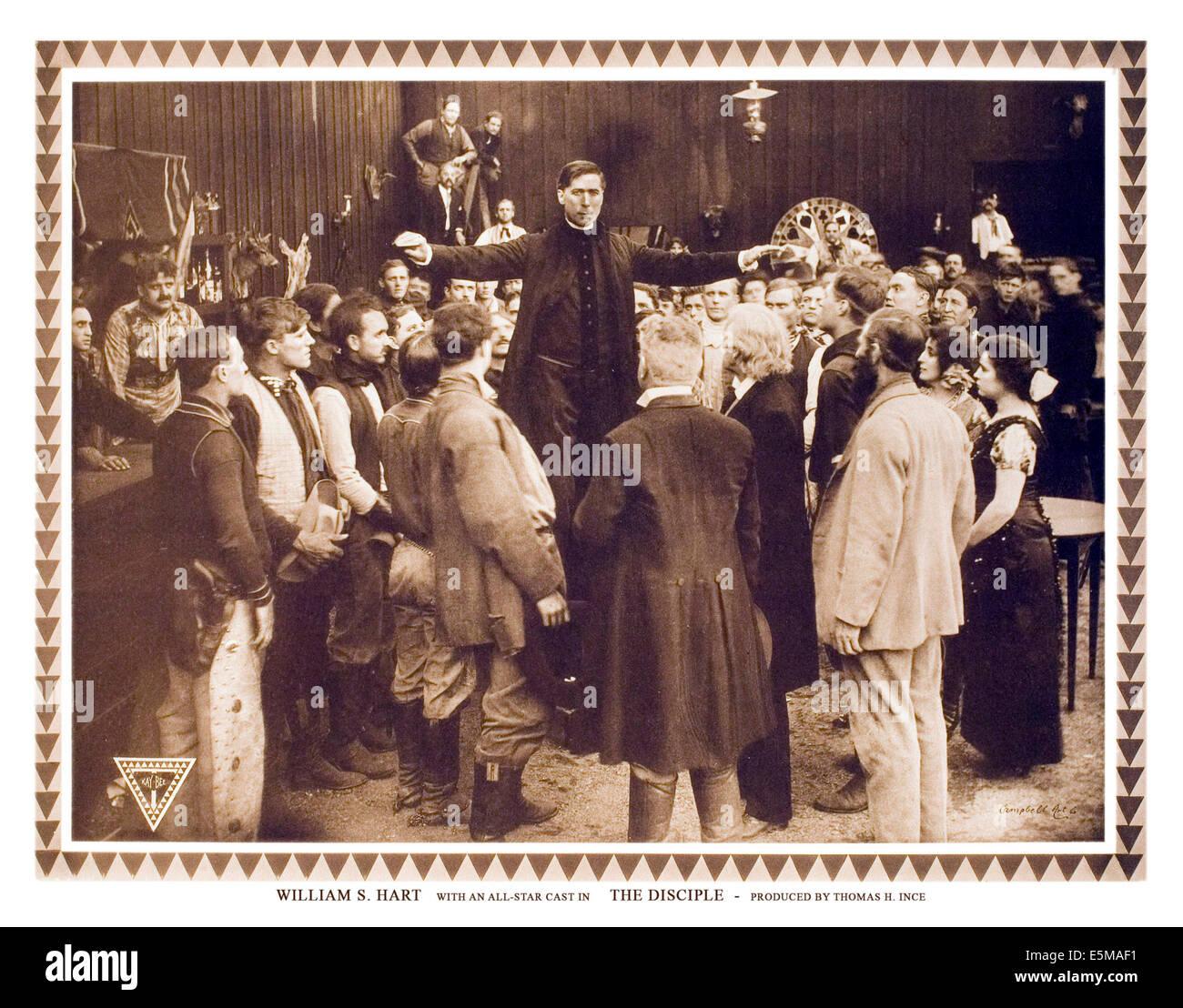 THE DISCIPLE, William S. Hart, 1915. - Stock Image