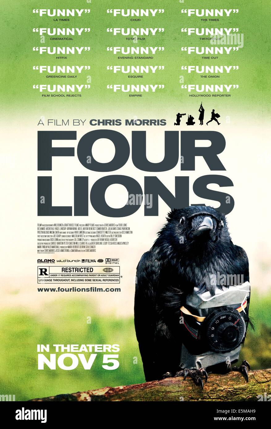 FOUR LIONS, poster art, 2010, ©Drafthouse Films/courtesy Everett Collection - Stock Image