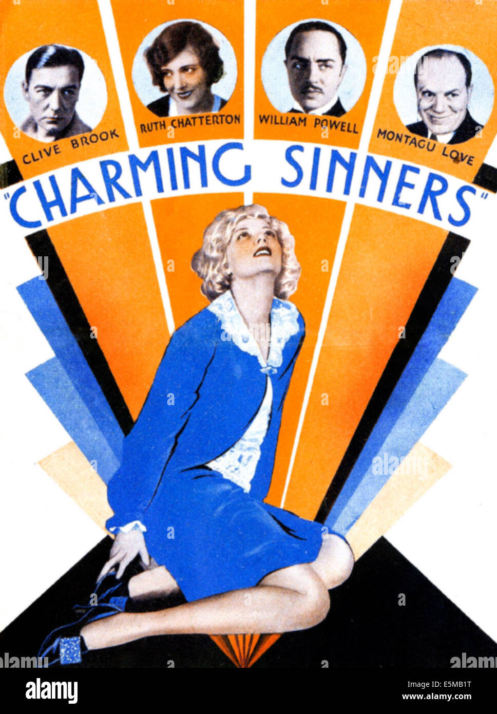 CHARMING SINNERS, US poster art, bottom: Mary Nolan; top from left: Clive Brook, Ruth Chatterton, William Powell, - Stock Image