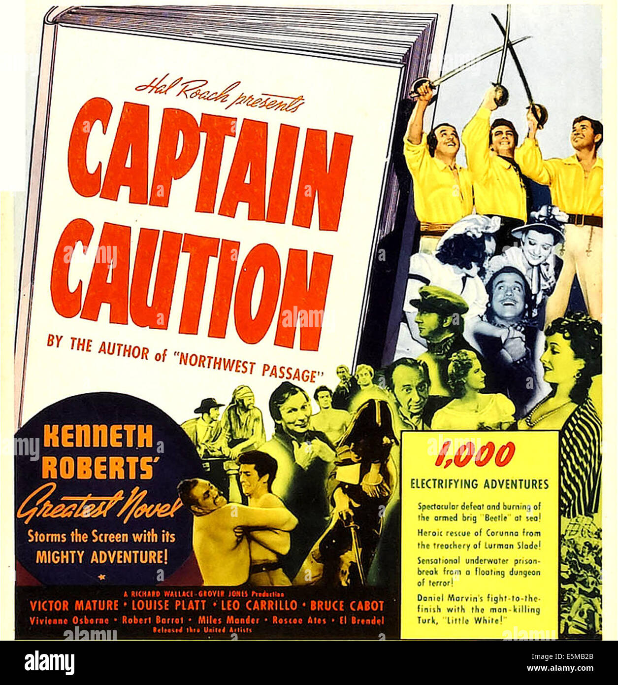 CAPTAIN CAUTION, window card, 1940 - Stock Image