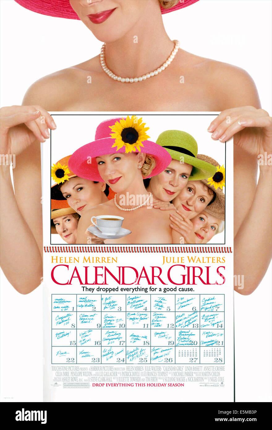 CALENDAR GIRLS, 2003, (c) Touchstone/courtesy Everett Collection - Stock Image