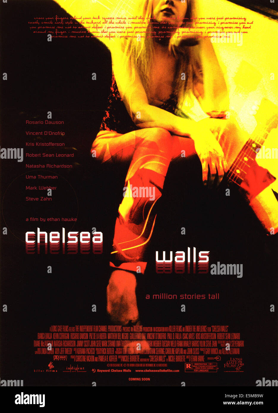 CHELSEA WALLS, poster art, 2001. (c) Lions Gate Films/ Courtesy: Everett Collection. - Stock Image