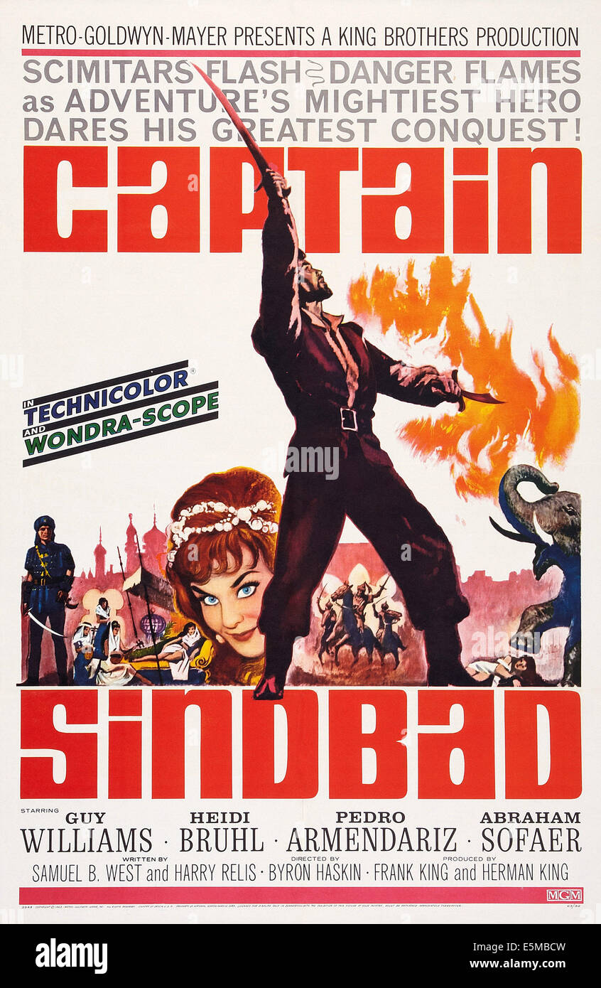 CAPTAIN SINBAD, US poster art, - Stock Image
