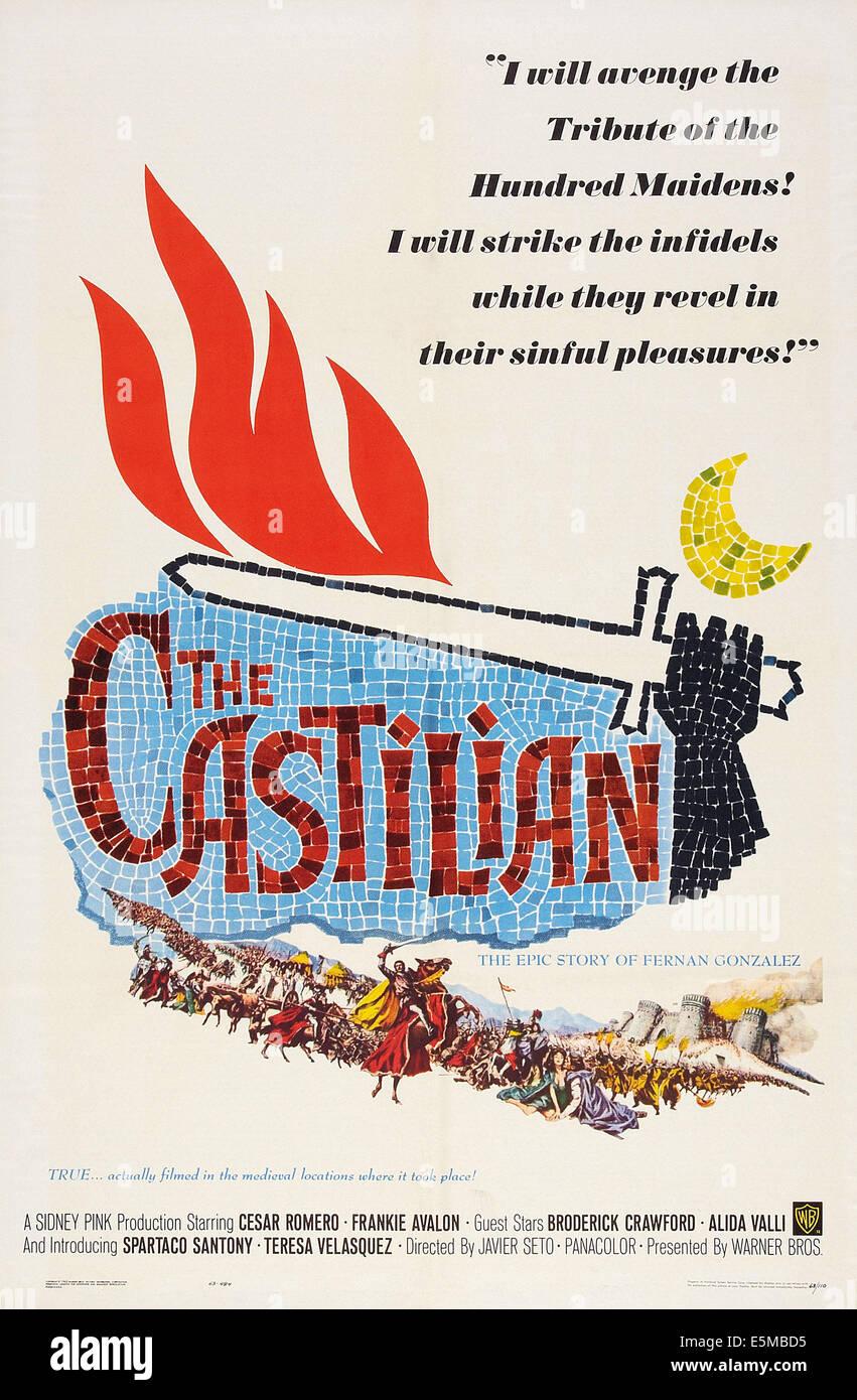 THE CASTILIAN, poster art, 1963. - Stock Image