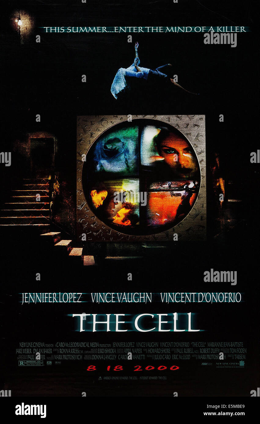 THE CELL, US advance poster art, 2000. ©New Line/courtesy Everett Collection - Stock Image