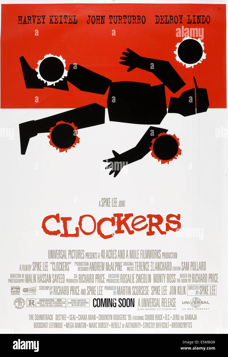 CLOCKERS, US advance poster art, 1995. © Universal/courtesy Everett Collection - Stock Image