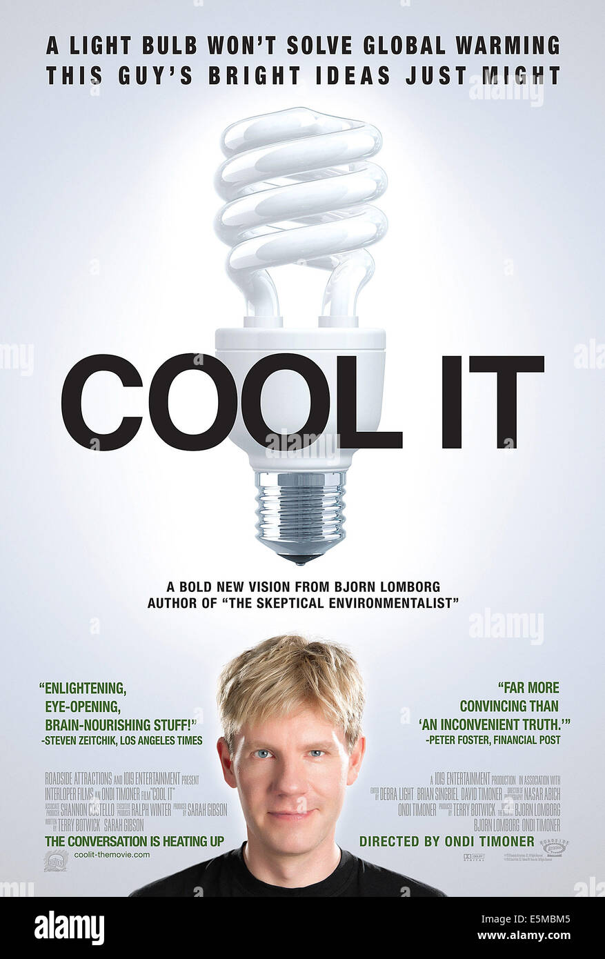 COOL IT, Bjorn Lomborg on poster art, 2010, ©Roadside Attractions/courtesy Everett Collection - Stock Image