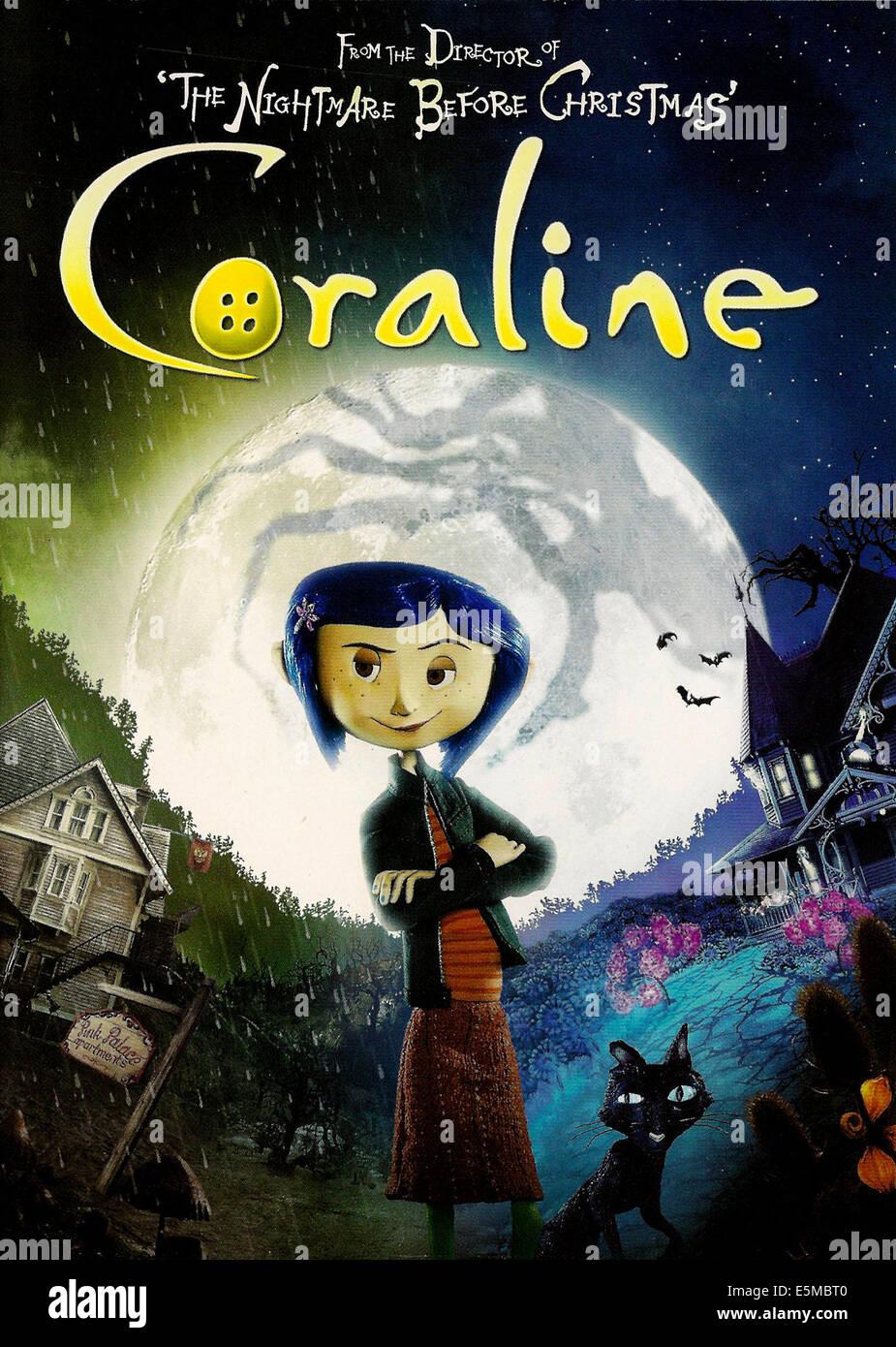 CORALINE, Coraline (voice: Dakota Fanning), 2009. ©Focus Features/Courtesy Everett Collection Stock Photo