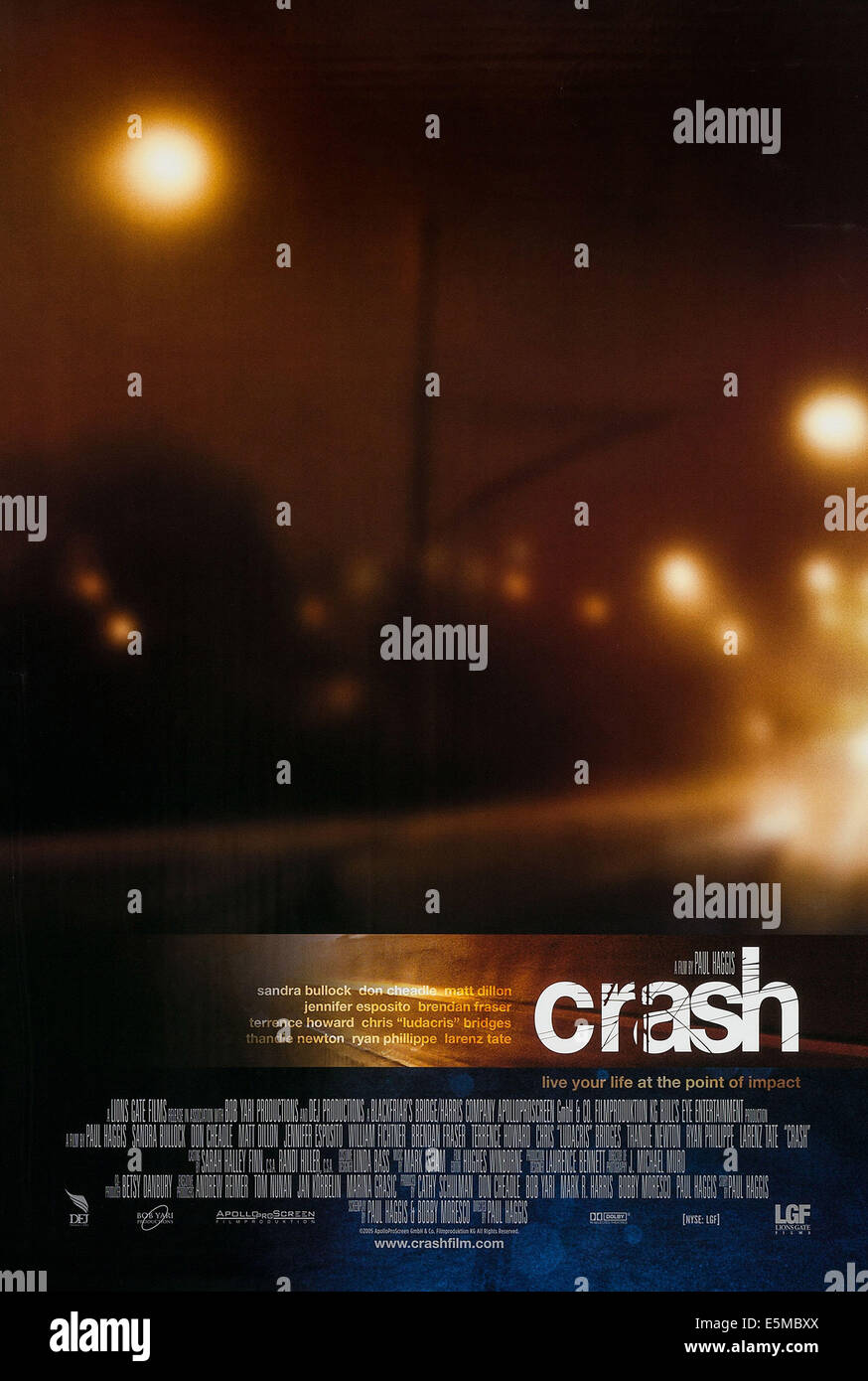 CRASH, US poster art, 2005. ©Lions Gate/courtesy Everett Collection - Stock Image