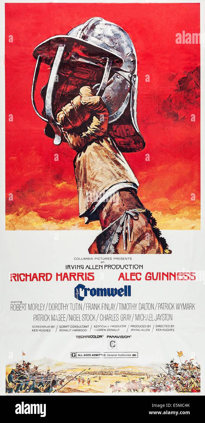 CROMWELL, poster art, 1970 - Stock Image