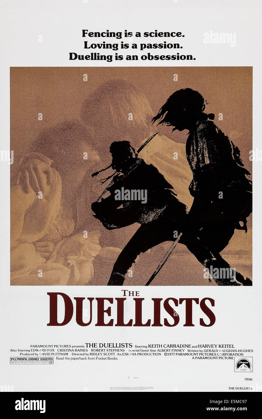 THE DUELLISTS, poster art, 1977. - Stock Image