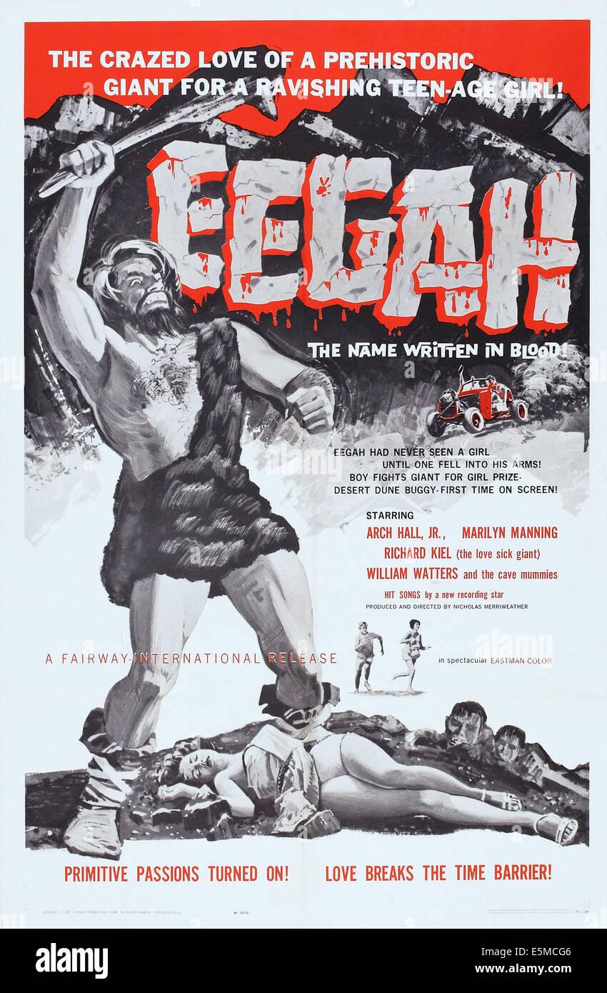 EEGAH, poster art, 1962. - Stock Image
