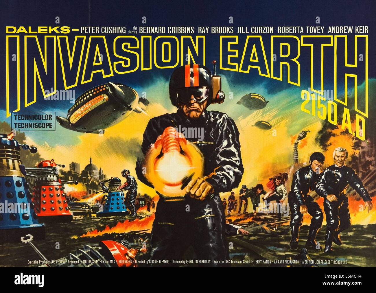 DALEKS' INVASION EARTH: 2150 A.D., British poster art, 1966. - Stock Image