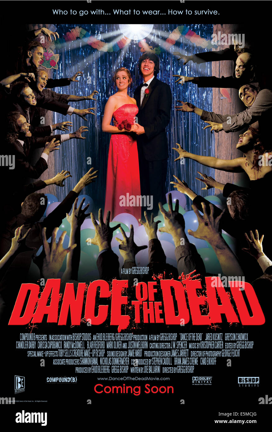 DANCE OF THE DEAD, US poster art, from left: Greyson Chadwick, Jared Kusnitz, 2008. ©Ghosthouse Underground/Courtesy - Stock Image