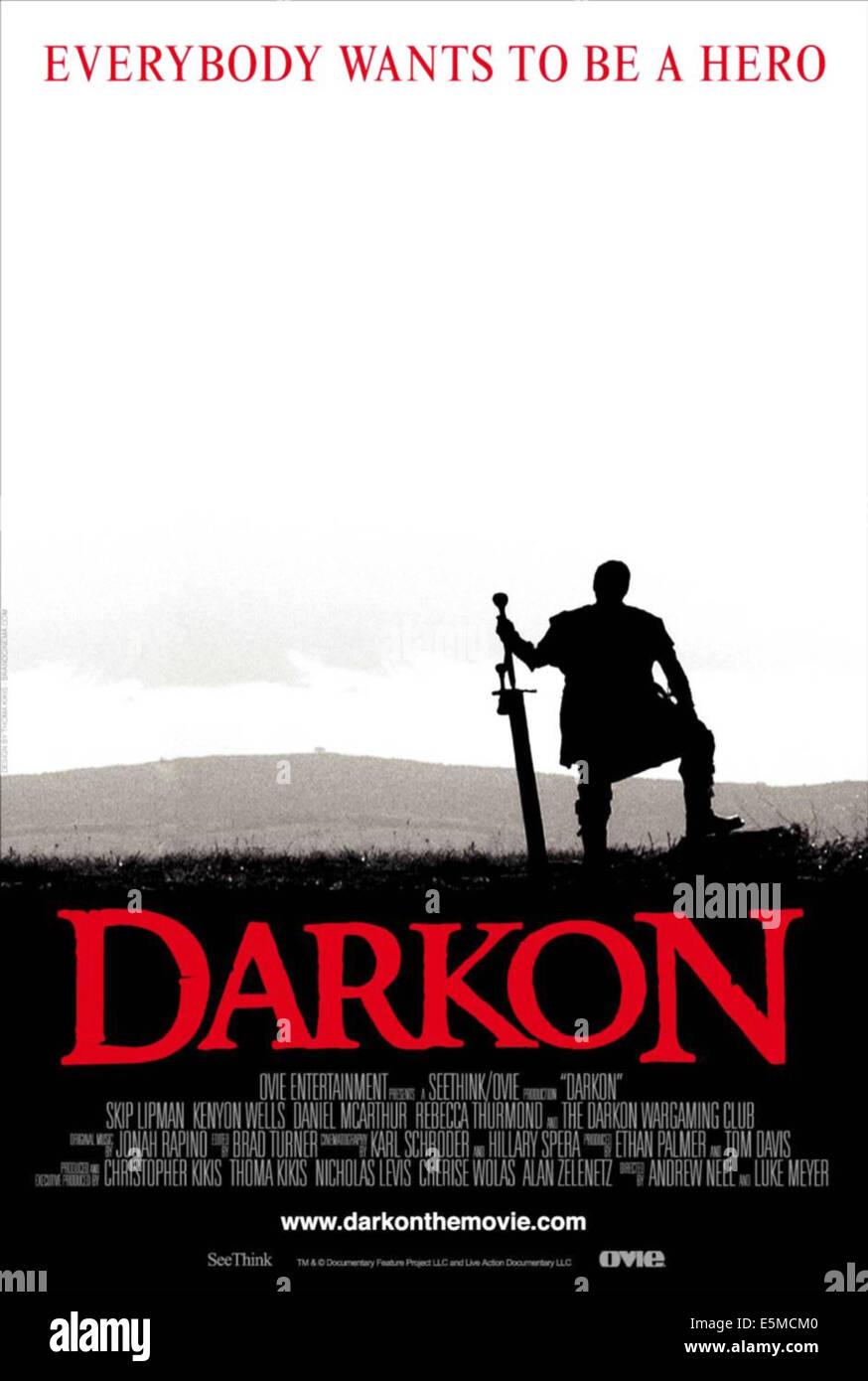 DARKON, US poster art, 2006. ©SeeThink Film/courtesy Everett Collection - Stock Image