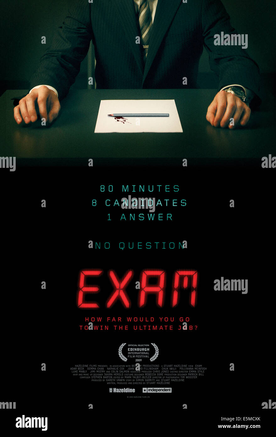 EXAM, poster art, 2009, ©IFC Films/courtesy Everett Collection - Stock Image