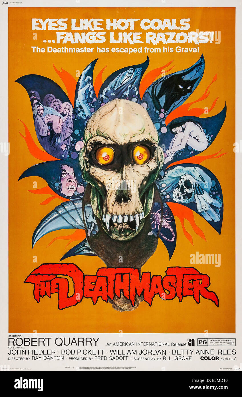 DEATHMASTER, US poster art, 1972 - Stock Image