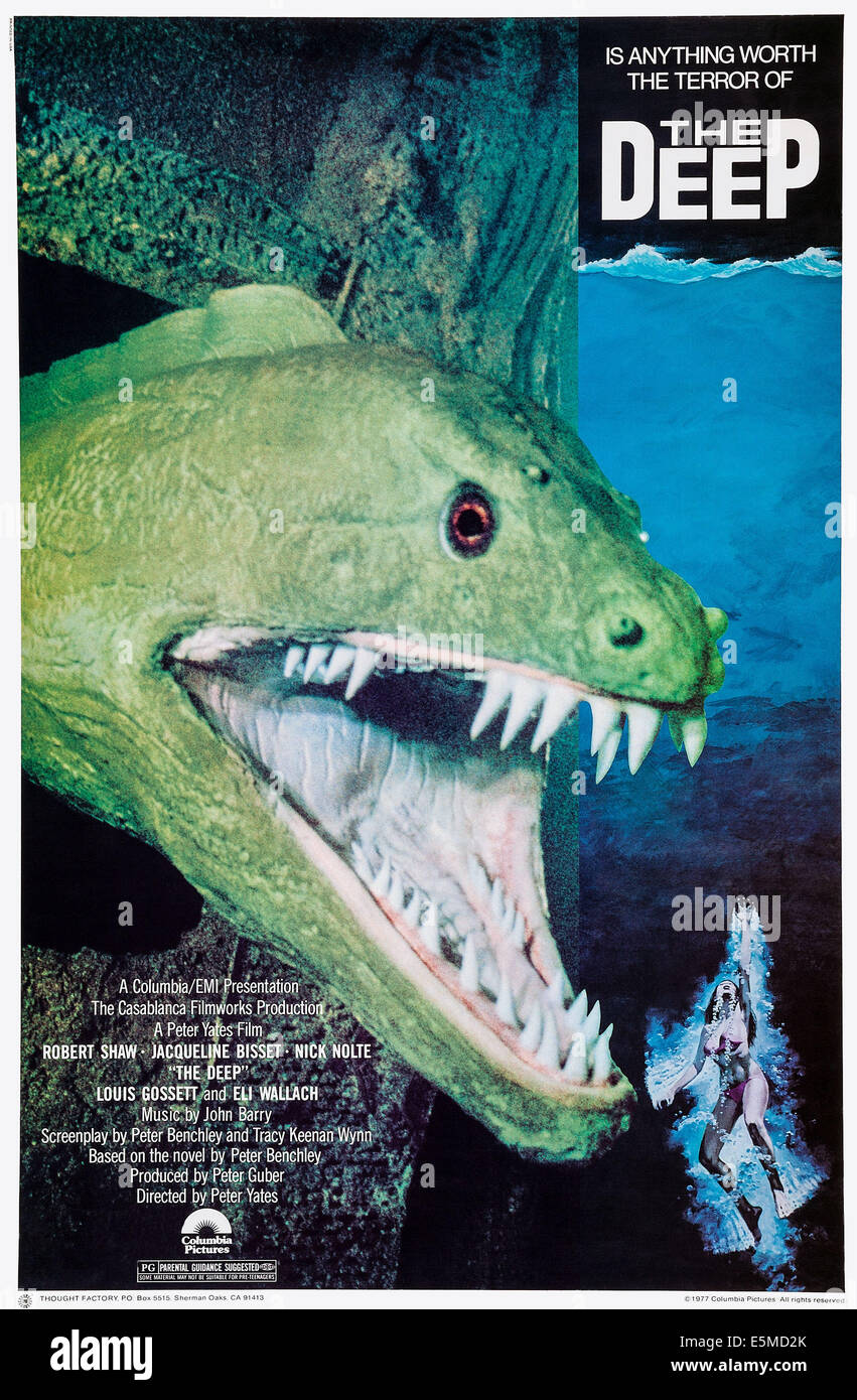 THE DEEP, poster art, 1977 - Stock Image